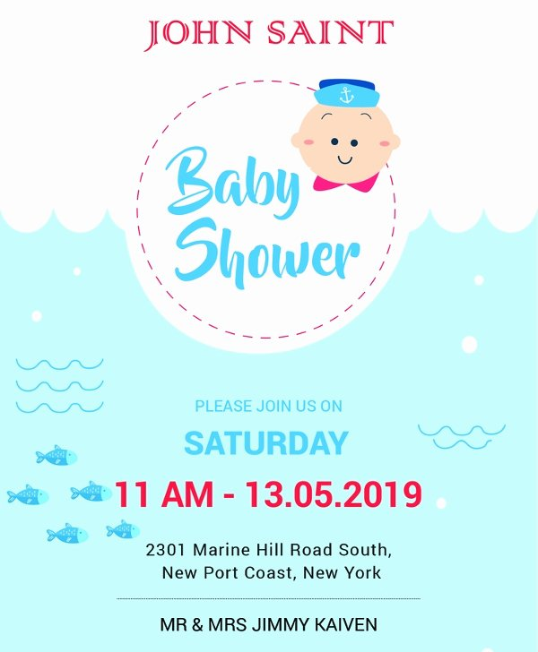 Baby Shower Invite Template Elegant Baby Shower Invitation Template 29 Free Psd Vector Eps
