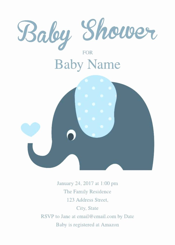 Baby Shower Invite Template Fresh 2 Free Baby Shower Invitation Templates & Examples