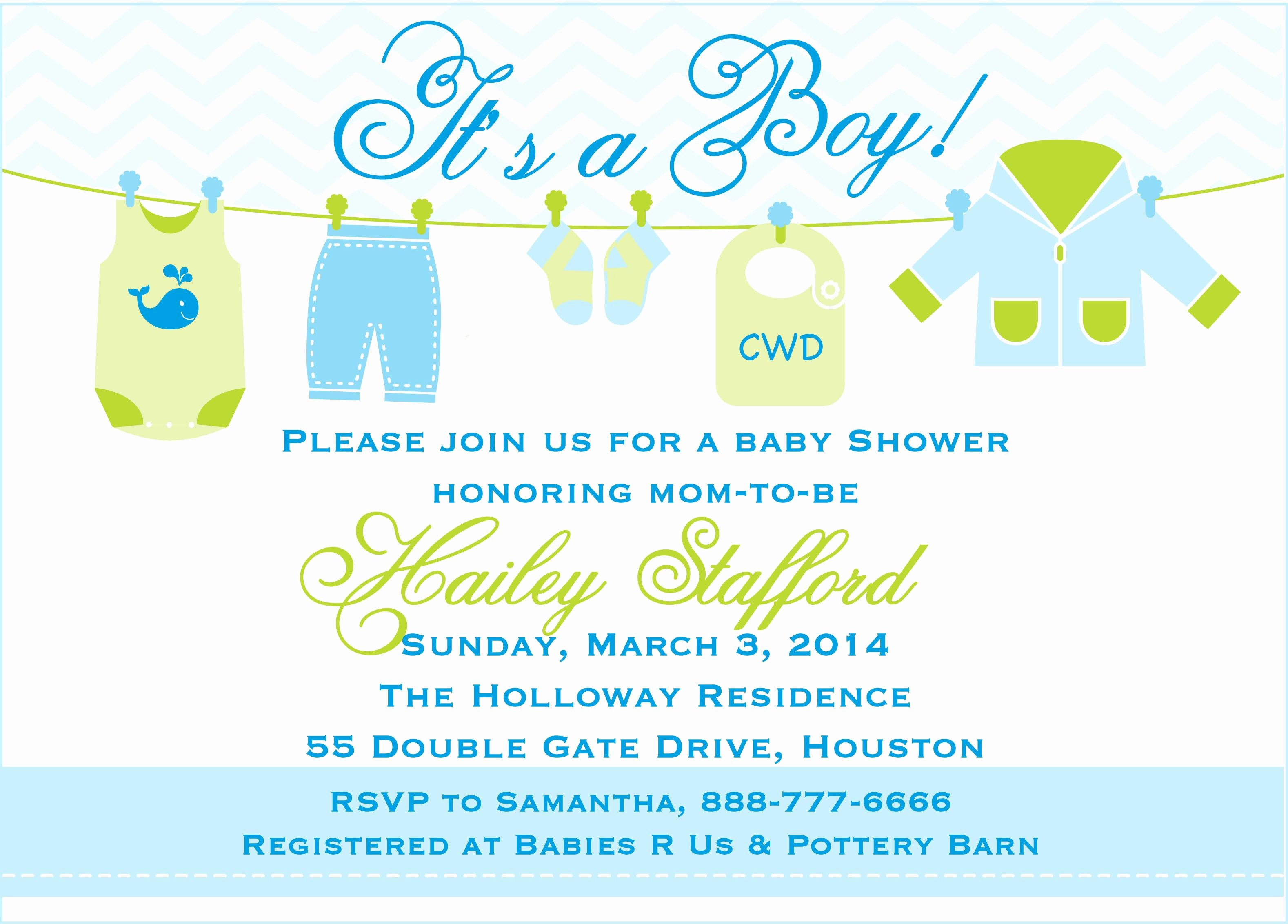 Baby Shower Invite Template Fresh Free Printable Baby Shower Invitations Templates for Boys
