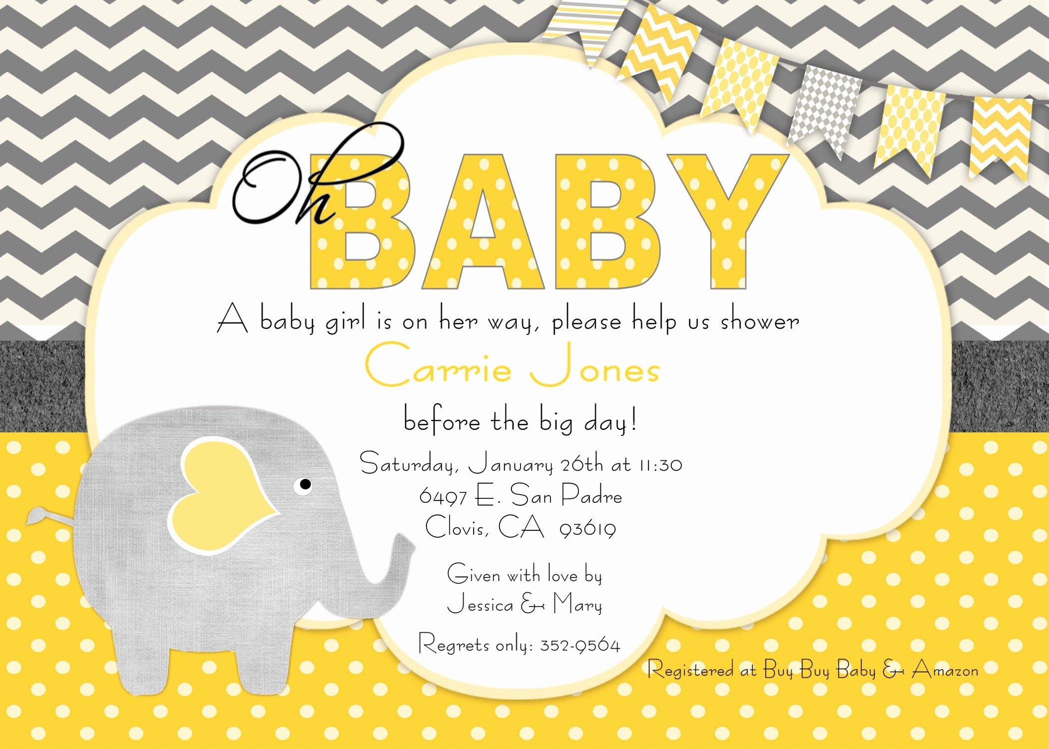 Baby Shower Invite Template Lovely Baby Shower Invitation