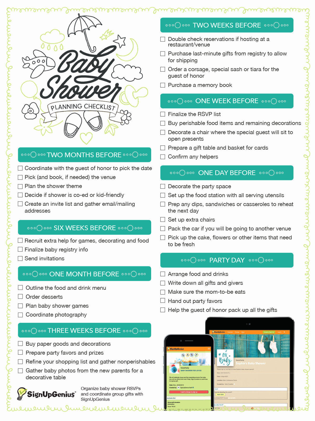 Baby Shower Planning Check List Fresh Baby Shower Planning Checklist Get This Printable
