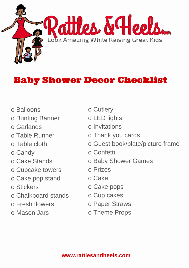 Baby Shower Planning Check List Fresh Fabulous Baby Shower Decorations Checklist [printable