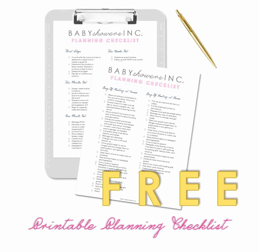Baby Shower Planning Check List Fresh Free Printable Baby Shower Planning Checklist Baby