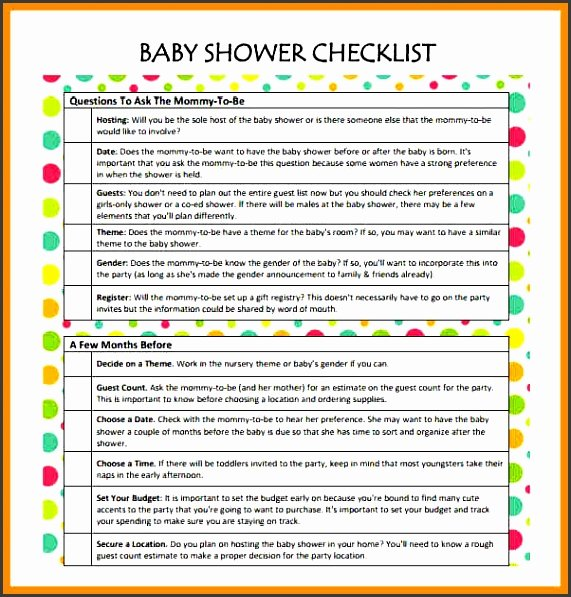 Baby Shower Planning Check List Inspirational 11 Baby Shower Planner Sample Sampletemplatess