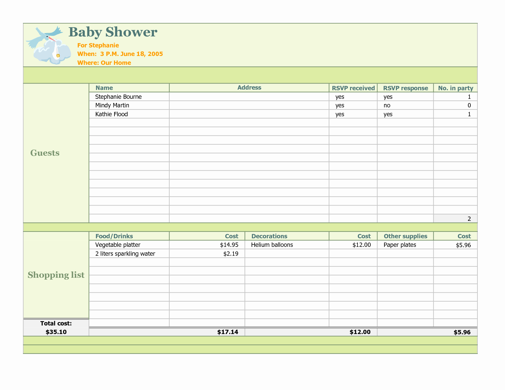Baby Shower Planning Check List Inspirational Baby Shower Planning Checklist