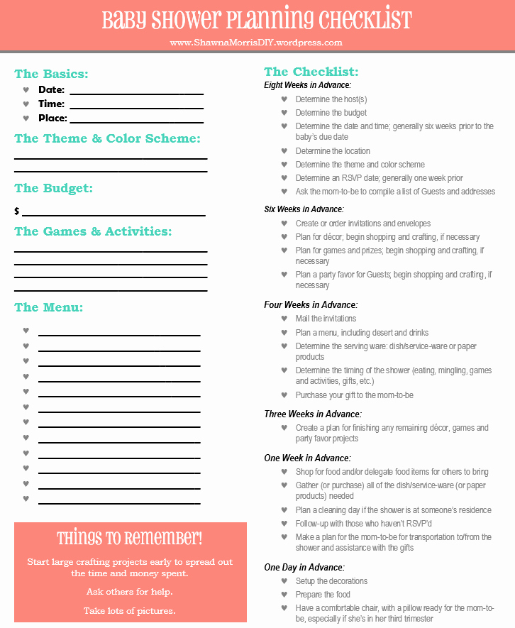 Baby Shower Planning Check List Unique Planning A Baby Shower the Ultimate Checklist – Shawna