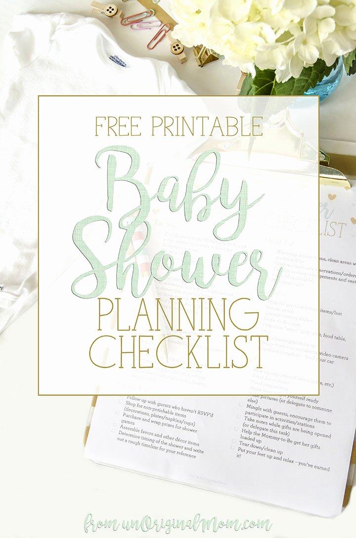 Baby Shower Planning Checklist Best Of Free Printable Baby Shower Planning Checklist Unoriginal Mom