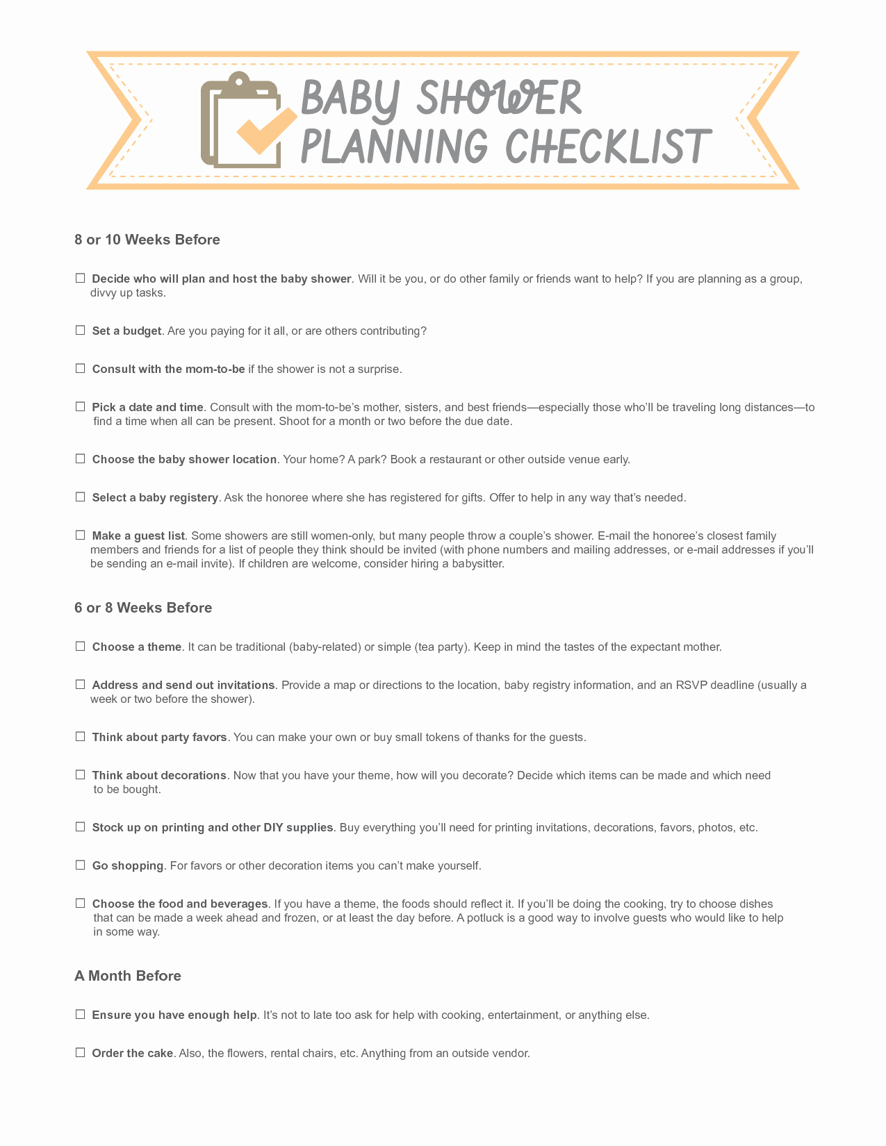 Baby Shower Planning Checklist Elegant Template for Bowtie for A Baby Shower