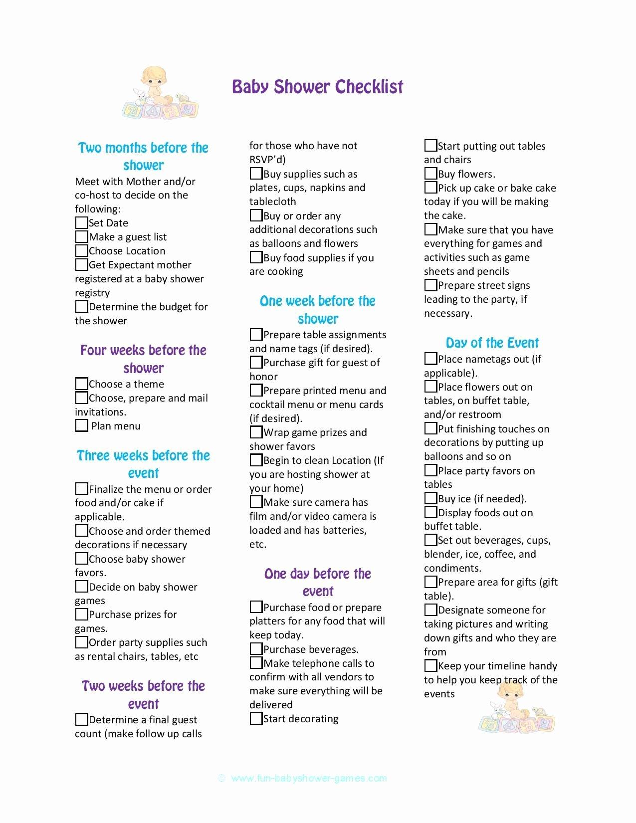Baby Shower Planning Checklist Unique Baby Shower Checklist to Help Plan the Perfect Baby Shower