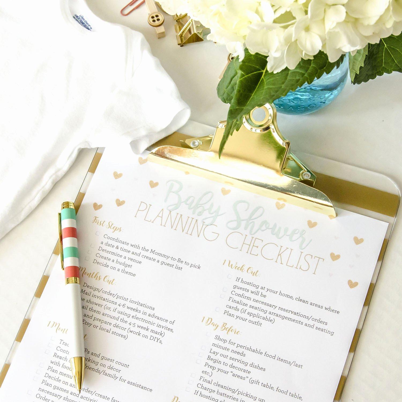 Baby Shower Planning Checklist Unique Free Printable Baby Shower Planning Checklist Unoriginal Mom