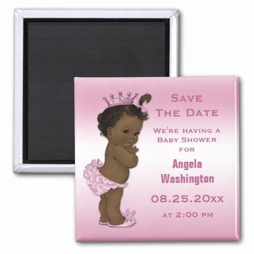 Baby Shower Save the Dates Awesome Ethnic Princess Baby Shower Save the Date Pink Magnet