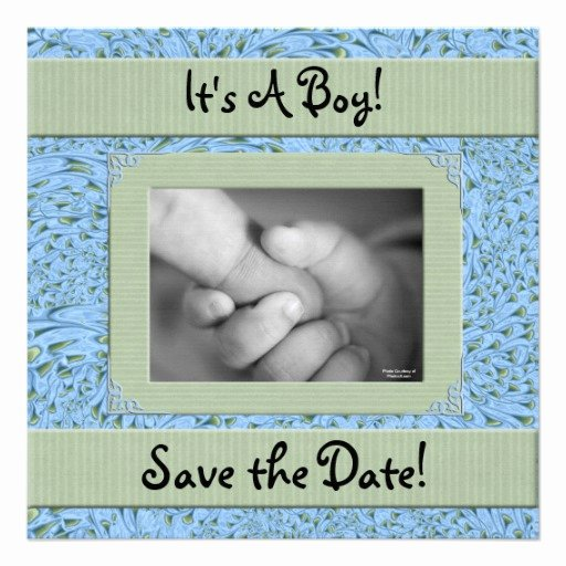 Baby Shower Save the Dates Best Of Baby Shower for A Boy Save the Date 5 25x5 25 Square Paper