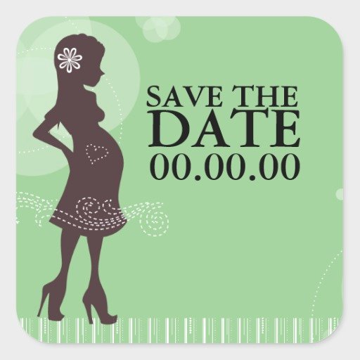 Baby Shower Save the Dates Elegant Baby Shower Save the Date Square Sticker