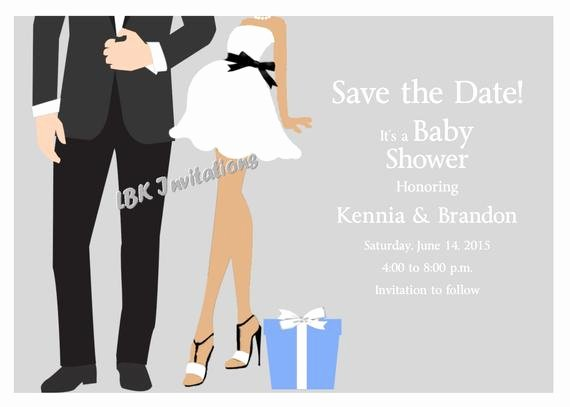 Baby Shower Save the Dates Elegant Chic Couples Baby Shower Save the Date isasol Chapa 40