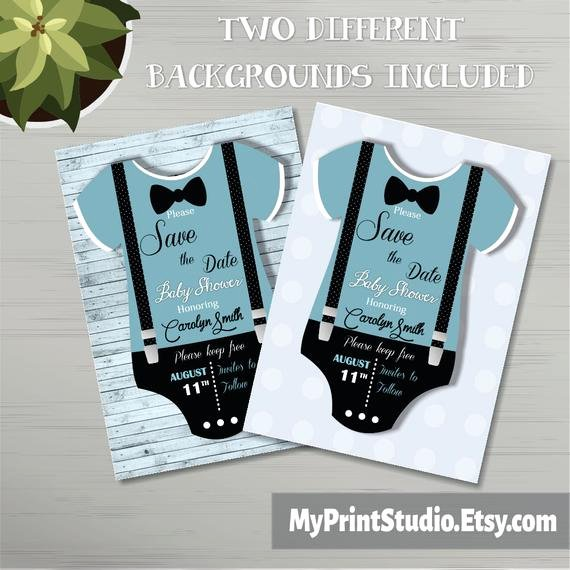 Baby Shower Save the Dates Elegant Save the Date Baby Boy Shower Card Template Creative Boy