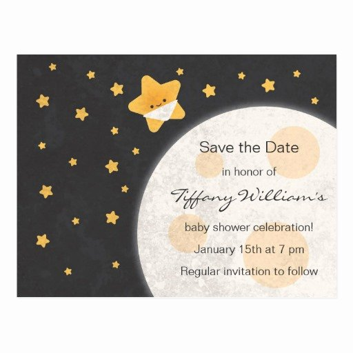 Baby Shower Save the Dates Fresh Twinkle Little Star Baby Shower Save the Date Postcard