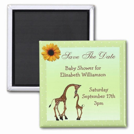 Baby Shower Save the Dates Inspirational Mom & Baby Giraffe Green Save the Date Baby Shower