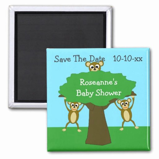 Baby Shower Save the Dates New Monkey Save the Date Baby Shower Magnets