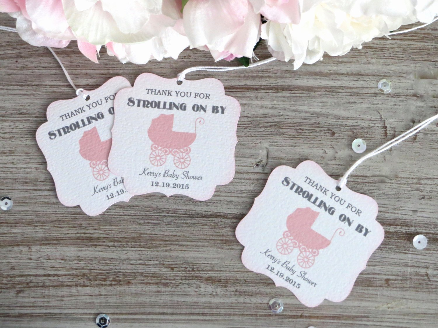 Baby Shower Thank You Tags Awesome Girl Baby Shower Favor Tags Carriage Baby Shower Thank You