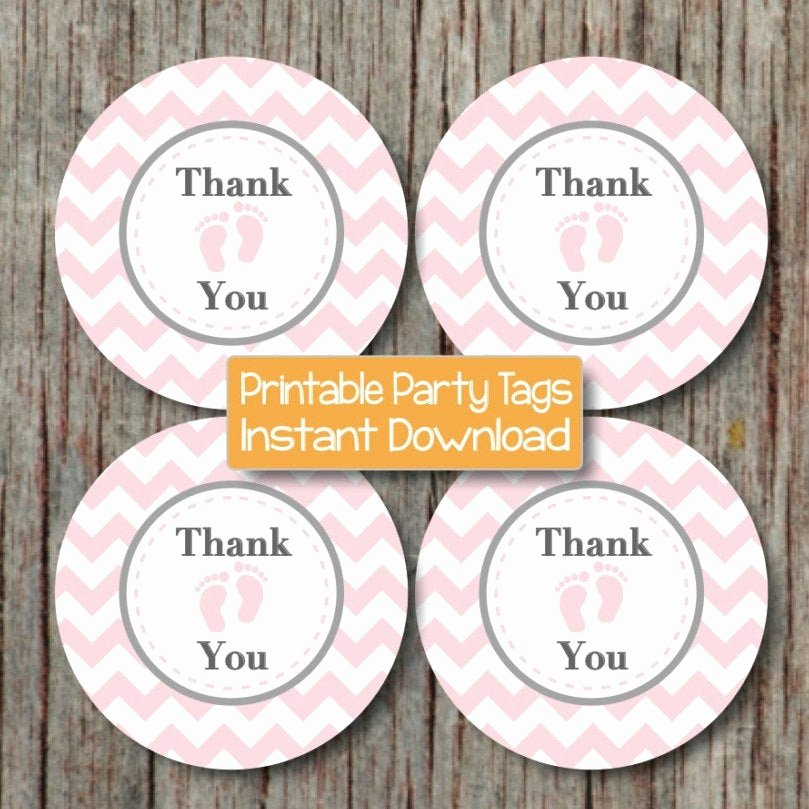 Baby Shower Thank You Tags Beautiful Instant Download Thank You Tags Baby Shower Printable Party