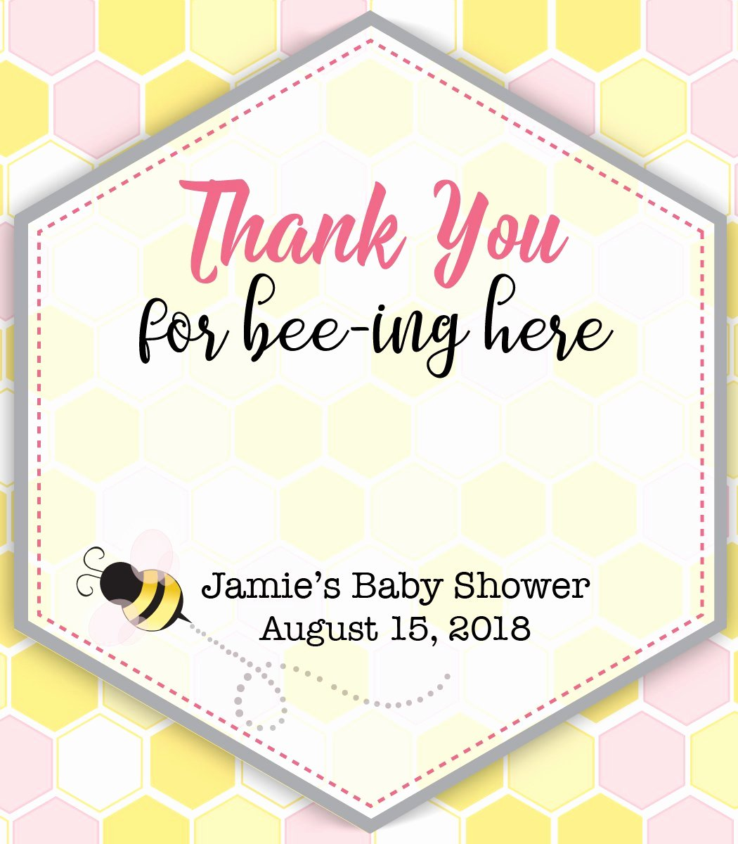 Baby Shower Thank You Tags Best Of Baby Bee Chapstick Thank You Favor Tags Mommy to Be Baby