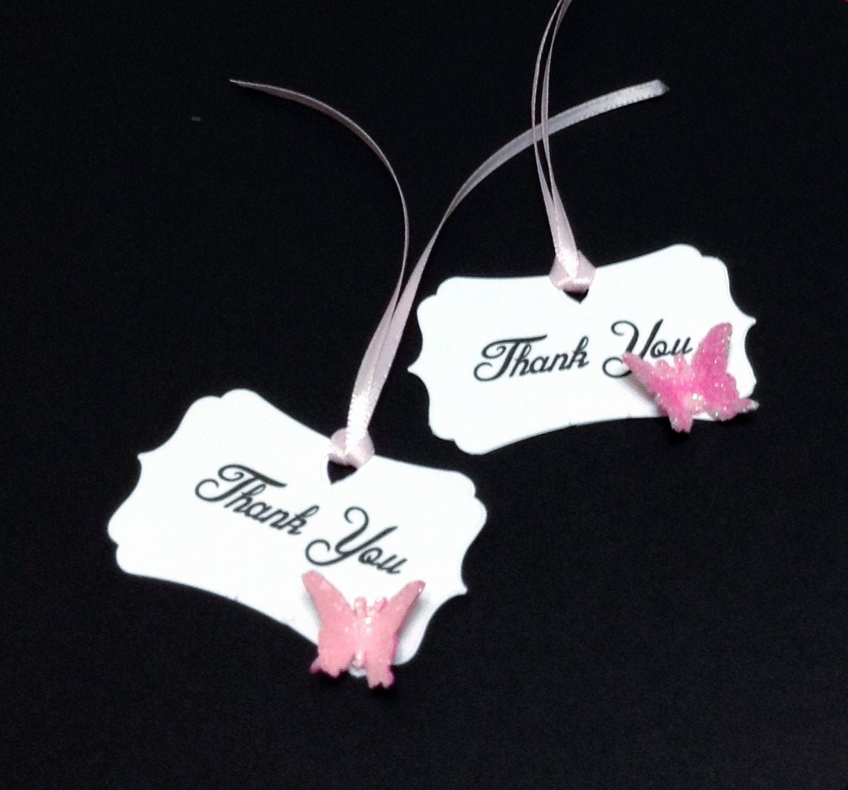 Baby Shower Thank You Tags Best Of buttterfly Thank You Tags Baby Shower Thank You Tags Shower