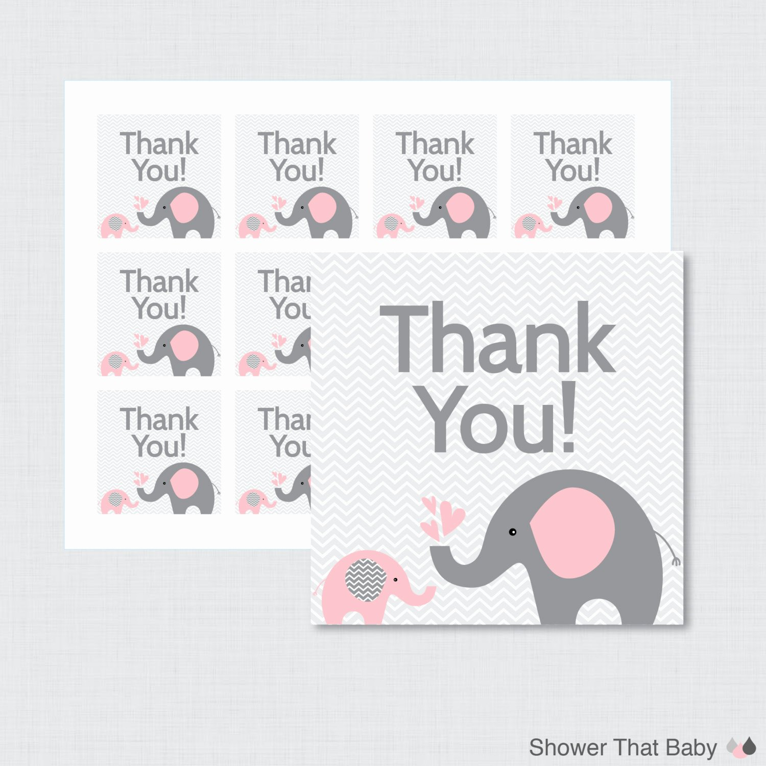 Baby Shower Thank You Tags Best Of Printable Elephant Baby Shower Favor Tags Thank You Tag