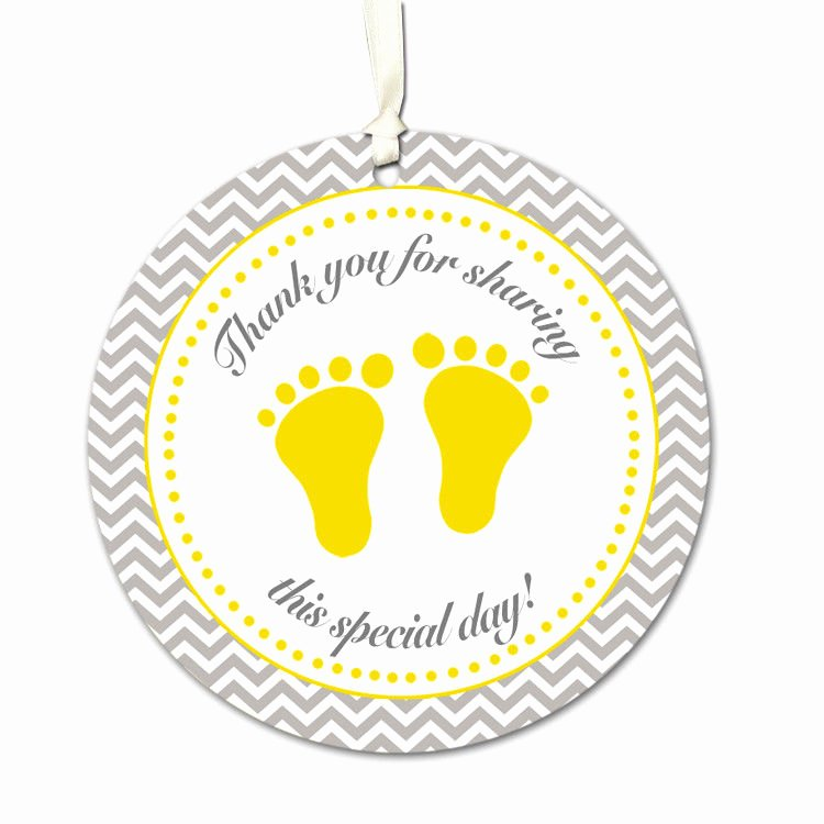 Baby Shower Thank You Tags Elegant 40 Custom Tags Thank You Label Baby Shower Favors Feet
