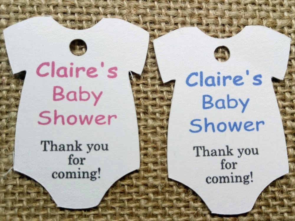Baby Shower Thank You Tags Elegant Personalised Baby Shower Christening Birthday Thank You