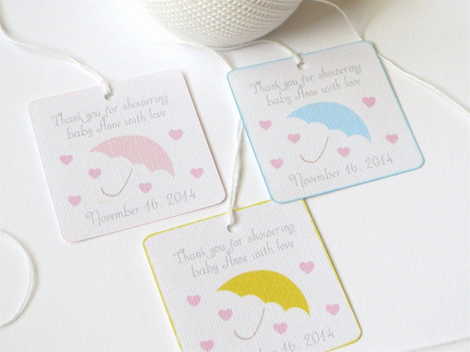 Baby Shower Thank You Tags Fresh Umbrella Shower Favor Tags Yellow Baby Shower Thank You Tags