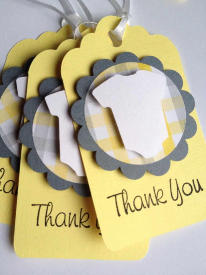 Baby Shower Thank You Tags Inspirational Baby Thank You Favor Tags 12 Baby Shower Favor Tags Yellow