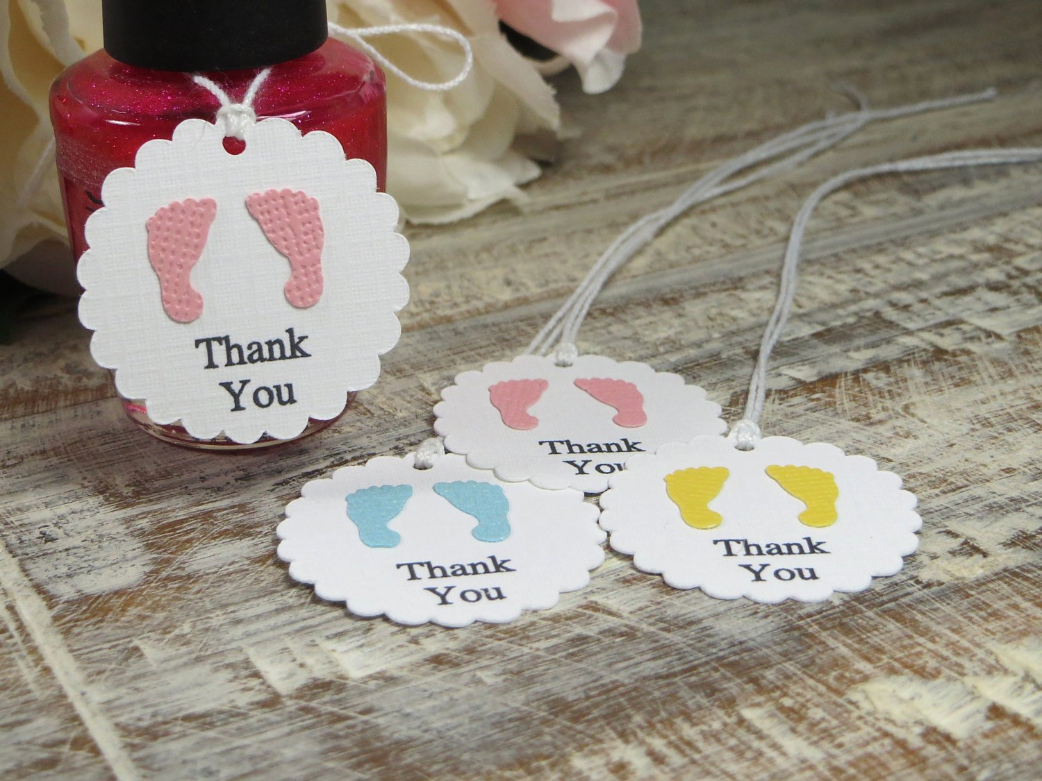 Baby Shower Thank You Tags Luxury Baby Shower Favor Tags Small Footprints Thank You Tags Small