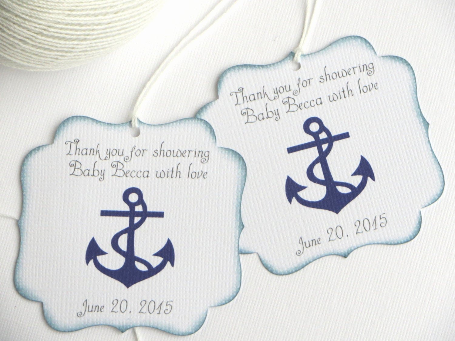 Baby Shower Thank You Tags Luxury Nautical Baby Shower Favor Tags Navy Blue Baby Shower Thank
