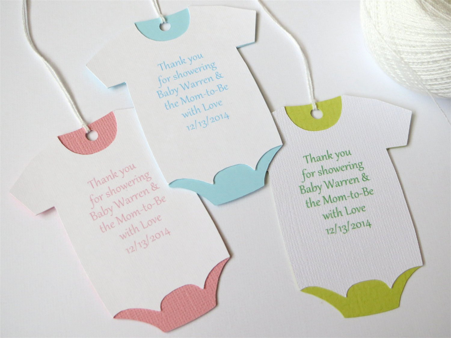 Baby Shower Thank You Tags New Baby Shower Thank You Tags Custom Baby Shower Favor