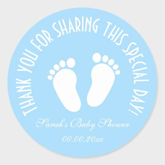 Baby Shower Thank You Tags New Boy Baby Shower Party Favor Thank You Stickers
