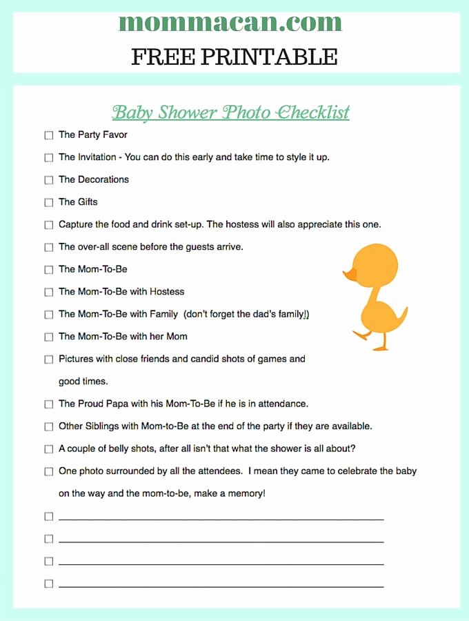 Baby Shower to Do List Beautiful Baby Shower Checklist Momma Can