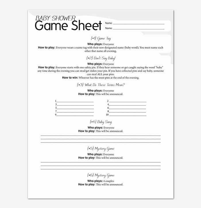 Baby Shower to Do List New to Do List Template 29 for Word Excel & Pdf