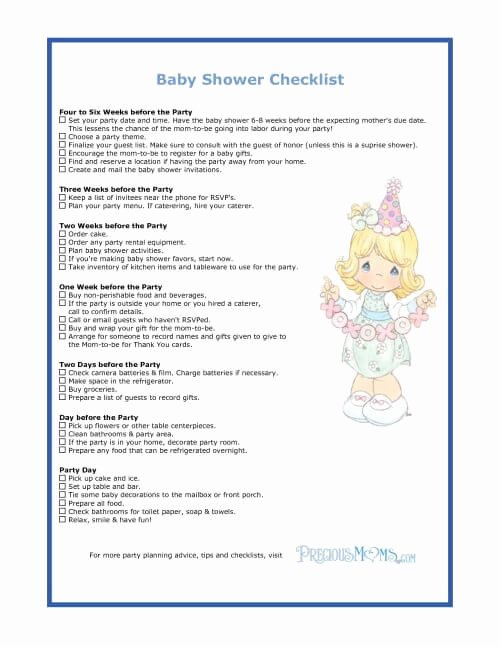 Baby Shower to Do List Unique the Checklist Of Baby Shower Planning Guide