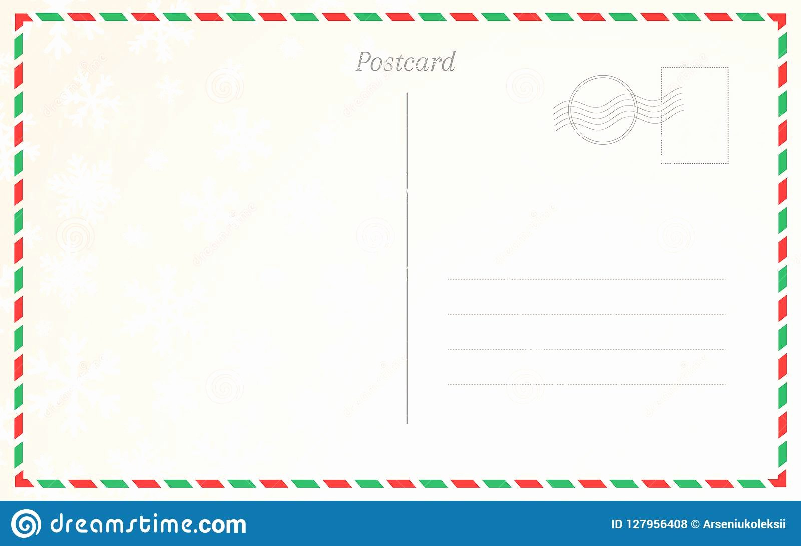 Back Of Postcard Template Best Of Old Postal Card Template with Winter Snowflakes Postcard