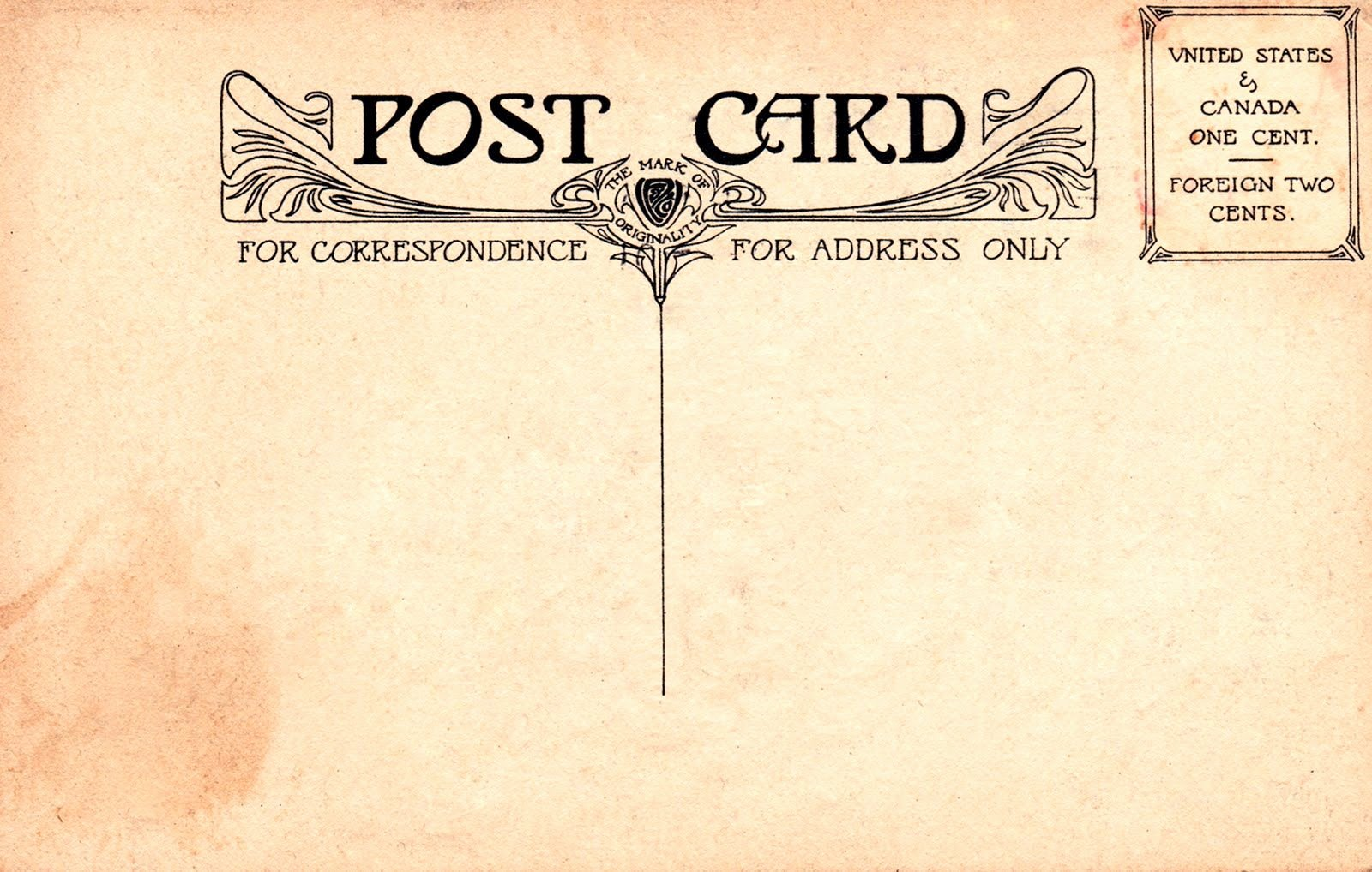 Back Of Postcard Template Best Of Vintage Postcard Back 2 1600×1018