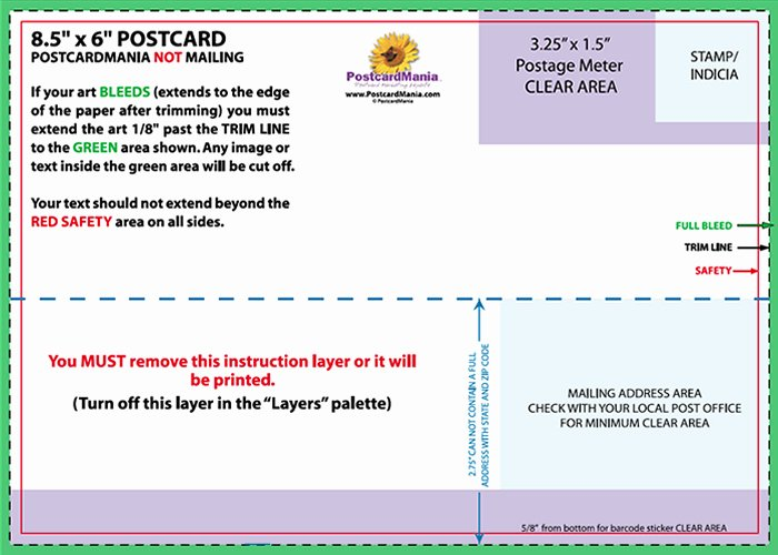 Back Of Postcard Template Elegant Postcard Design and Mailing Free Templates