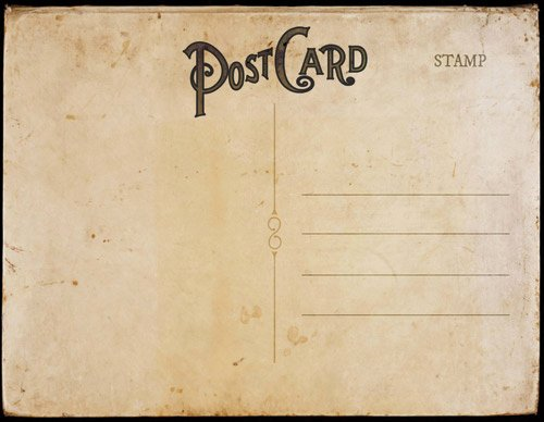 Back Of Postcard Template Inspirational Vintage Postcard Templates