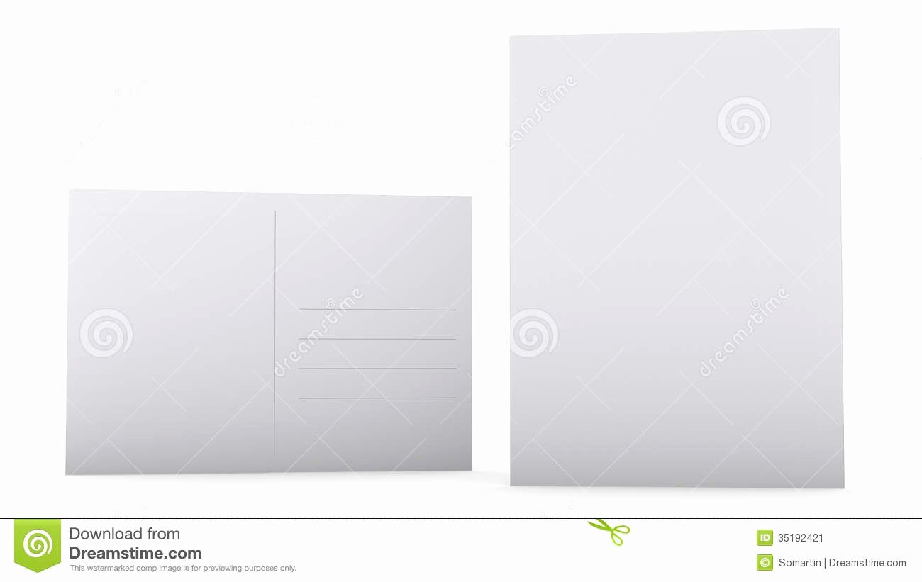 stock image postcard template blank design white front back sides image