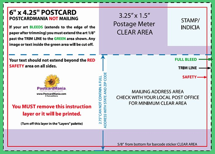 Back Of Postcard Template New Postcard Design and Mailing Free Templates
