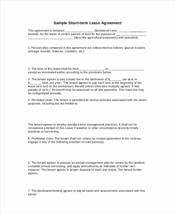 Basic Lease Agreement Template Best Of 20 Basic Lease Agreement Examples Word Pdf