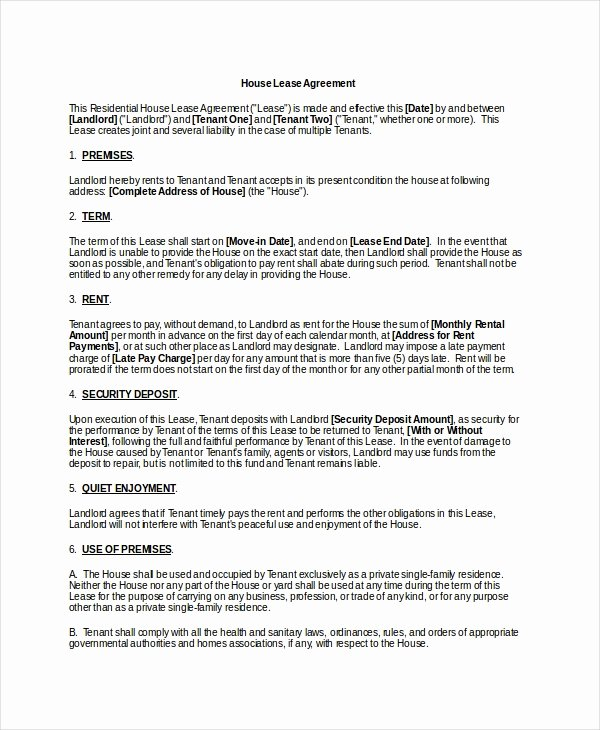 Basic Lease Agreement Template Elegant 20 Basic Lease Agreement Examples Word Pdf
