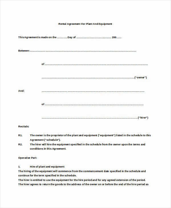 Basic Lease Agreement Template Elegant Simple Lease Agreement – Emmamcintyrephotography