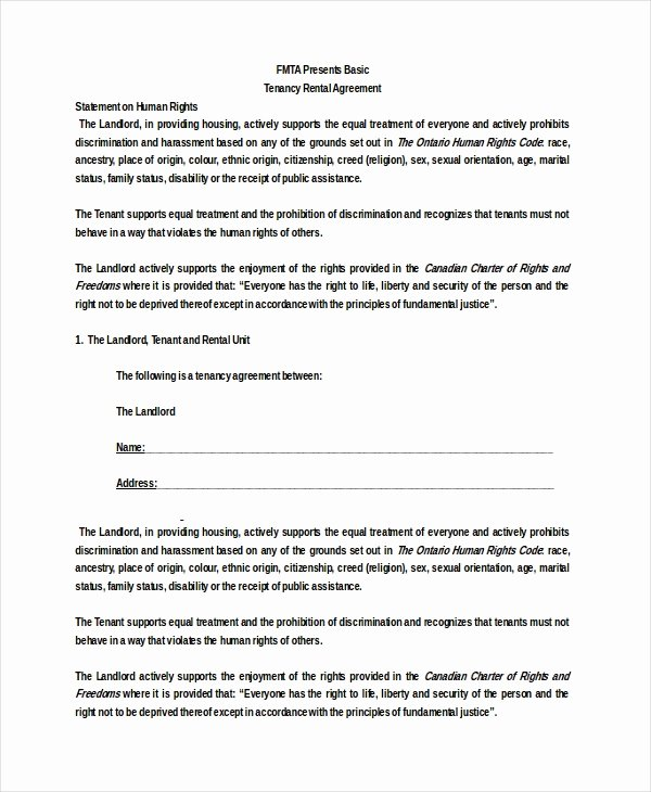 Basic Lease Agreement Template Inspirational 26 Basic Rental Agreement Templates Doc Pdf