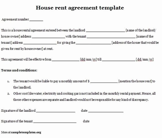 Basic Lease Agreement Template Luxury Printable Sample Simple Room Rental Agreement form …