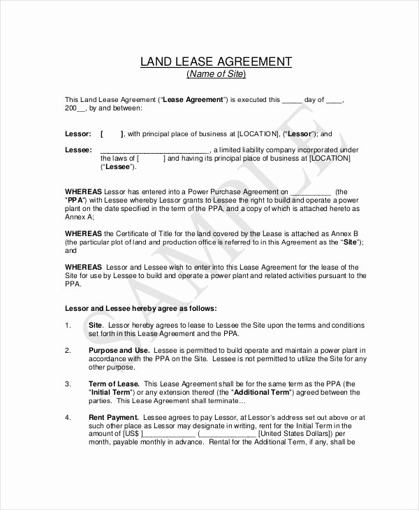 Basic Lease Agreement Template New 20 Basic Lease Agreement Examples Word Pdf